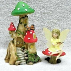 Woodland Fairy Collection-Mushroom Valley Cottage